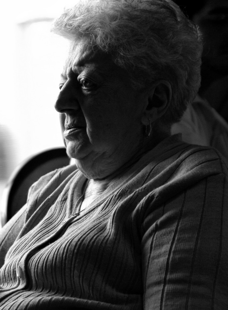 Shadowy Grandma black  white