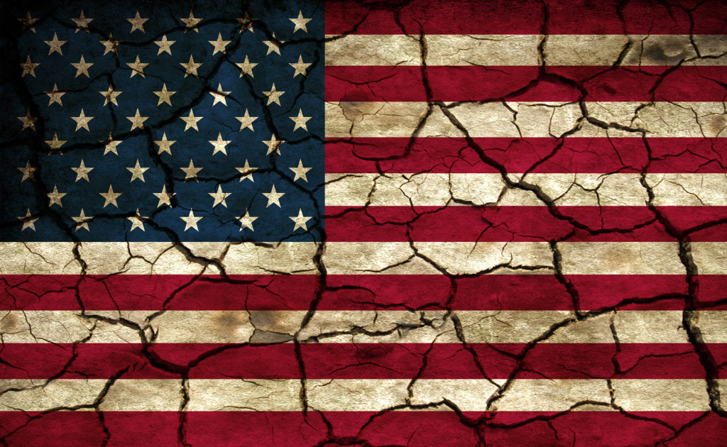 cracked flag